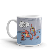 Load image into Gallery viewer, Kayaker Caught by Kraken Coffee Mug