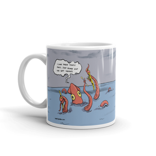 Kayaker Caught by Kraken Coffee Mug