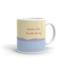 Load image into Gallery viewer, Sea Kayaking Mug – World's Best Paddle Buddy, Purple Dunes.