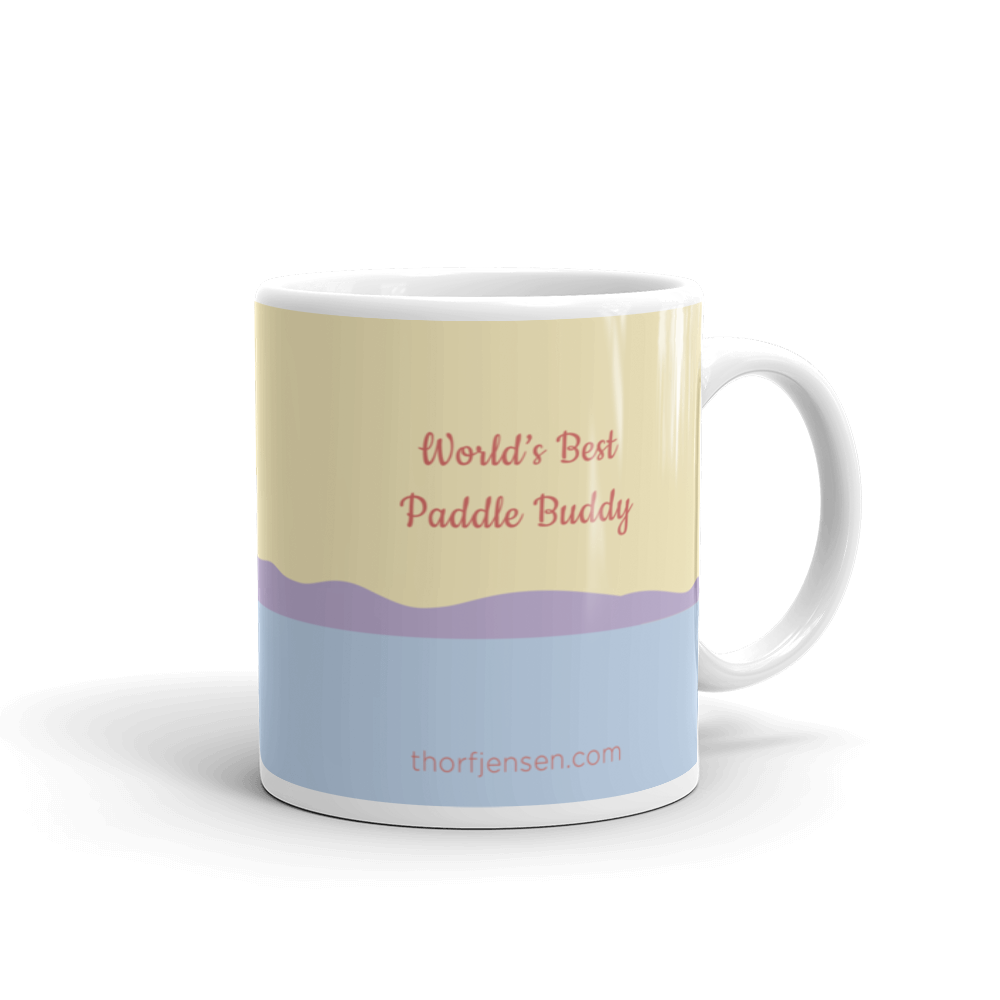 Sea Kayaking Mug – World's Best Paddle Buddy, Purple Dunes.