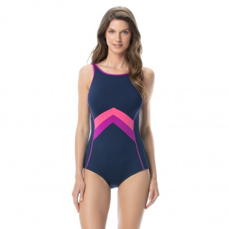 Gabar - G25262 - Maillot de bain 1 pièce post-mastectomie - Color blocked solids