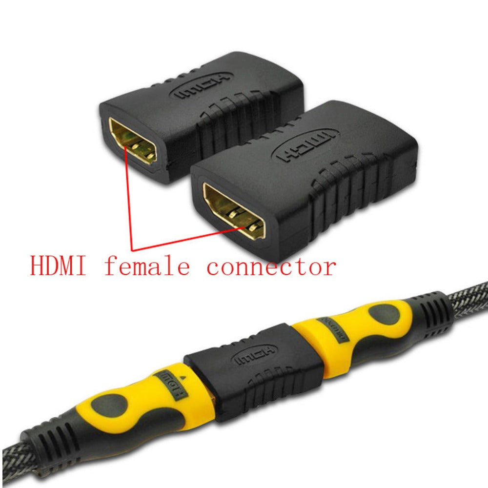 EveryDay.Discount HDMI Female To HDMI Female Connector High Quality Black