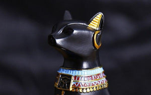 Egyptian Cats Resin Craft Vintage Baster Pharaoh Figurine Statue Cat