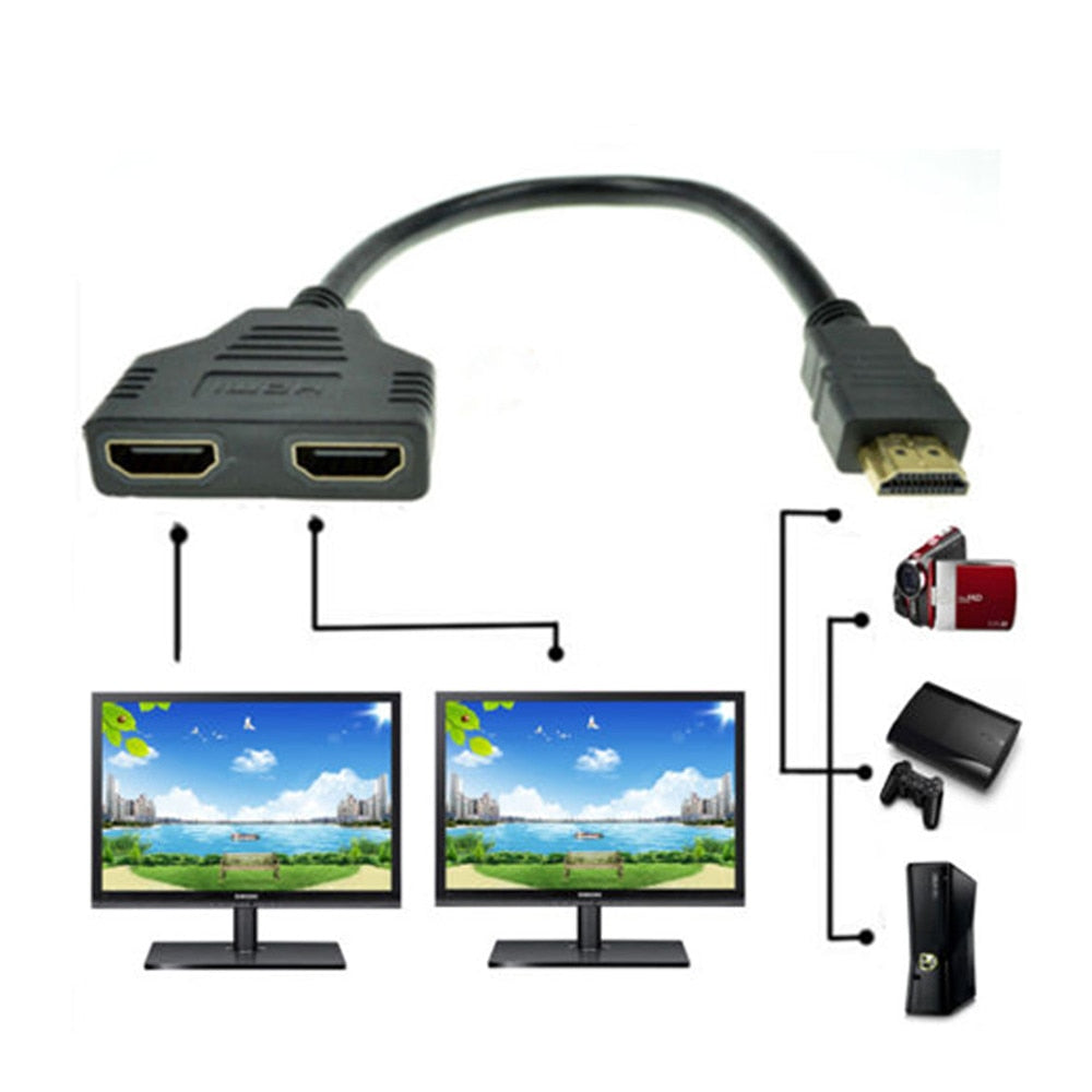 HDMI Switch 2 Ports In and 1 Full HD 1080K Out Multimedia Devices