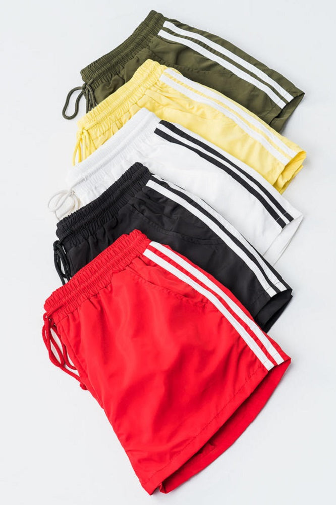 Striped Track Athletic Shorts