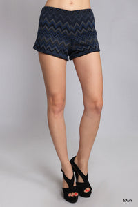 Chevron Short Leather Side Detail