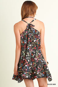 Ruffled Floral Black Mix