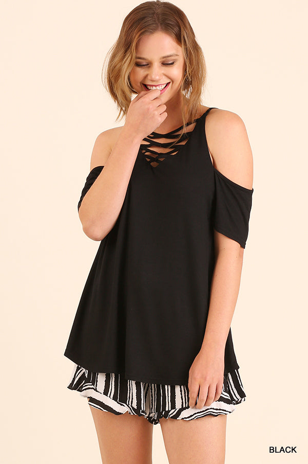 Criss Cross Cold Shoulder