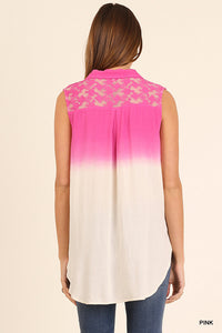 Ombre Pink Lace Back Panel
