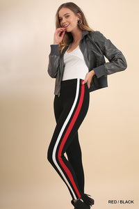 Side Stripe Stretch Leggings