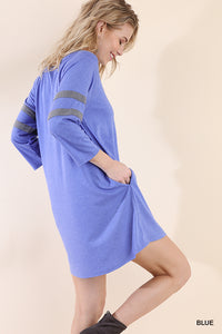 Athletic Stripe Pocket Dress