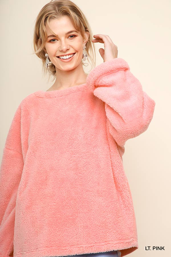 Fuzzy Pullover with Pockets