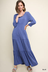 Periwinkle Pocket Long Dress