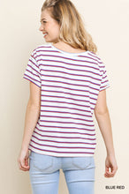 Striped Knotted Round Neck
