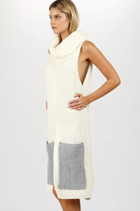 Splitting Ways Oversized Pockets Sweater