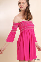 Hot Pink Stitched Babydoll