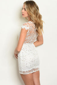 White & Witty Sequins Dress