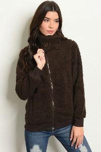 Brown Fleece Jacket