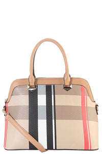 Plaid Designer Handbag