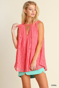 Coral Lace Keyhole