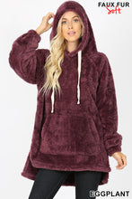 Hooded Fleece Eggplant
