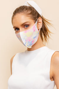 Multi Light Tie Dye Mask