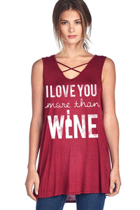 I Love You More Than Wine Tank