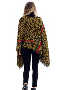 Animal Print Poncho