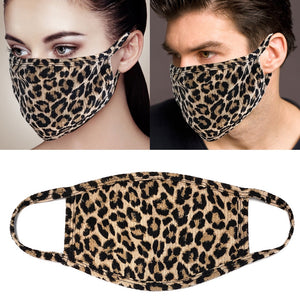 Leopard Ribbed Protective Mask