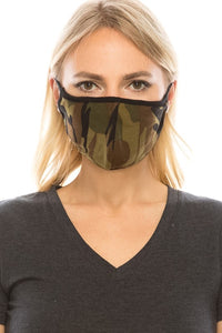 Protective Mask w Filter Pocket- Camo or Black