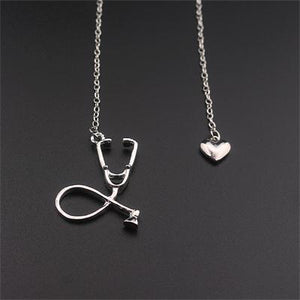 Free Stethoscope Heart Necklace