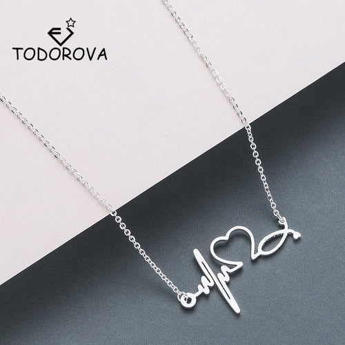 This Beautiful Heartbeat Necklace Will Capture The Eyes Of Any Dedicated Nurse