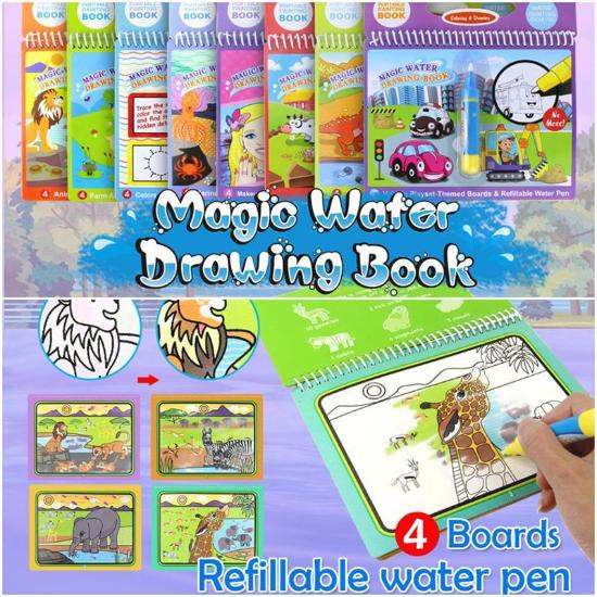 Magical Reusable Water-Coloring Book – Live Deal Store