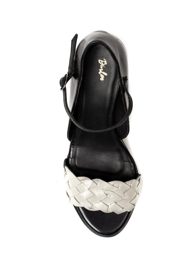Black & Grey Braided Wedge