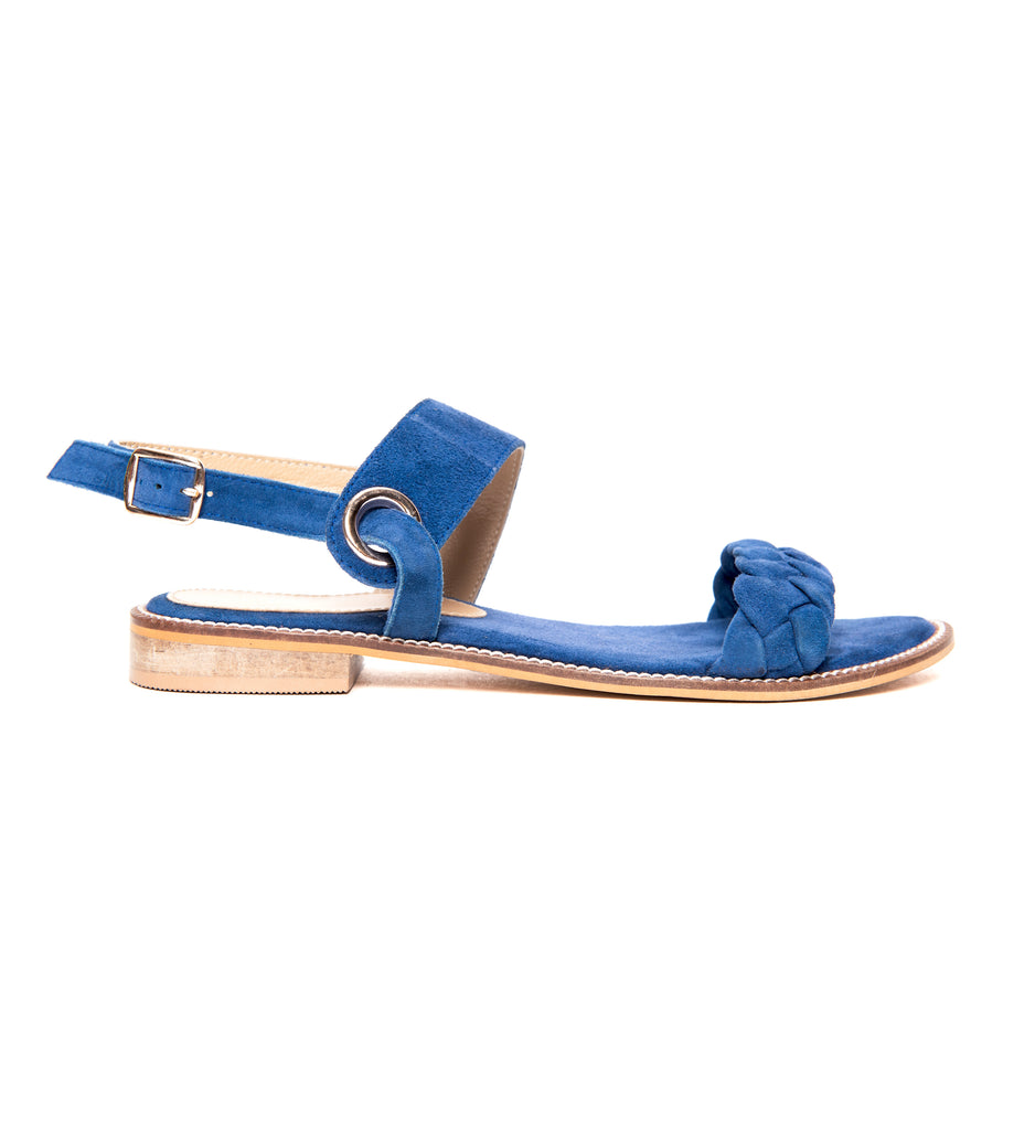Space Blue Braided Flat - www.burloe.com