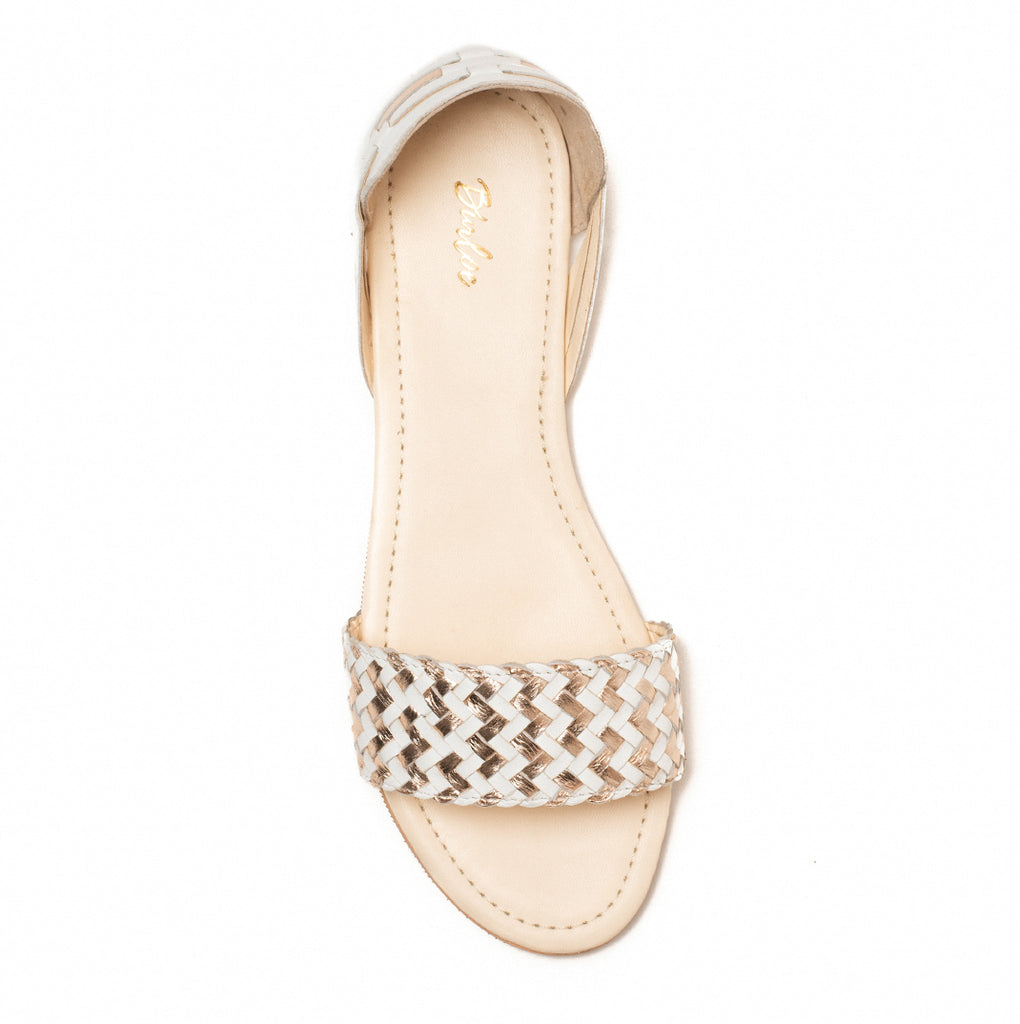 Zig-Zag Woven Rose Gold Flat