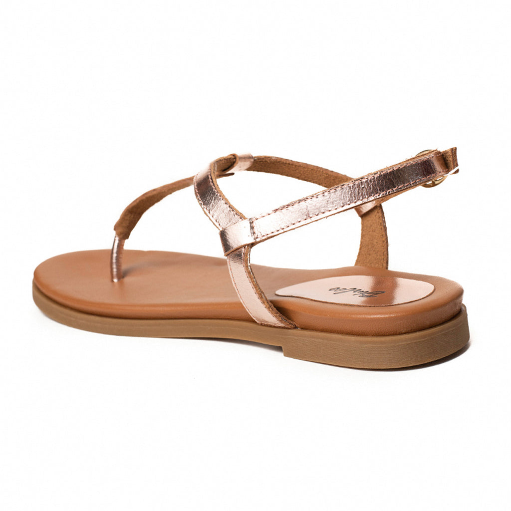 Copper Gold Thong Flat