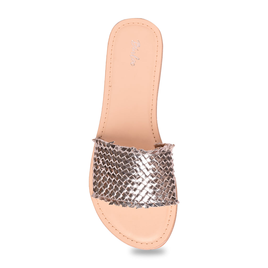 Silver Woven Flat