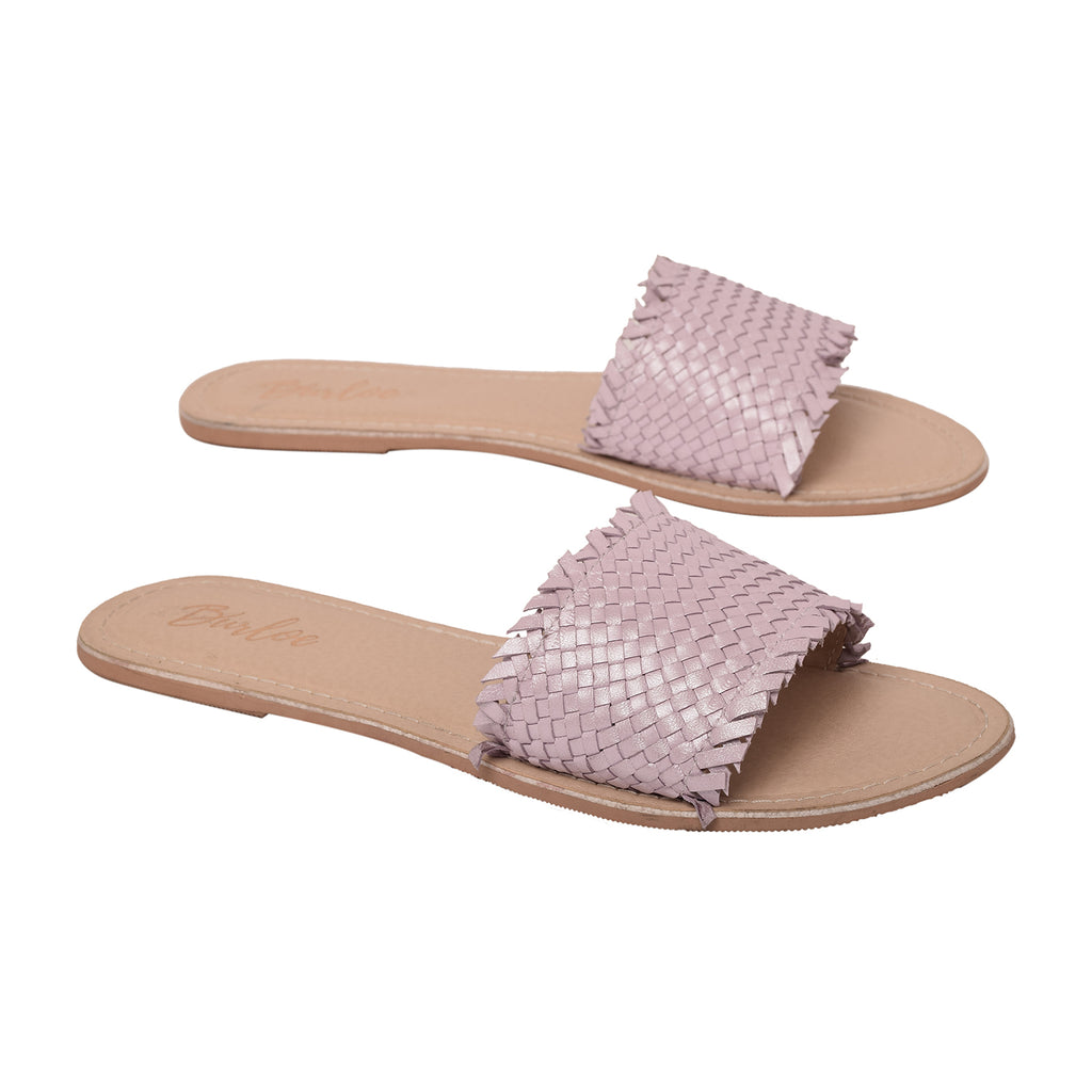 Lilac Woven Flat