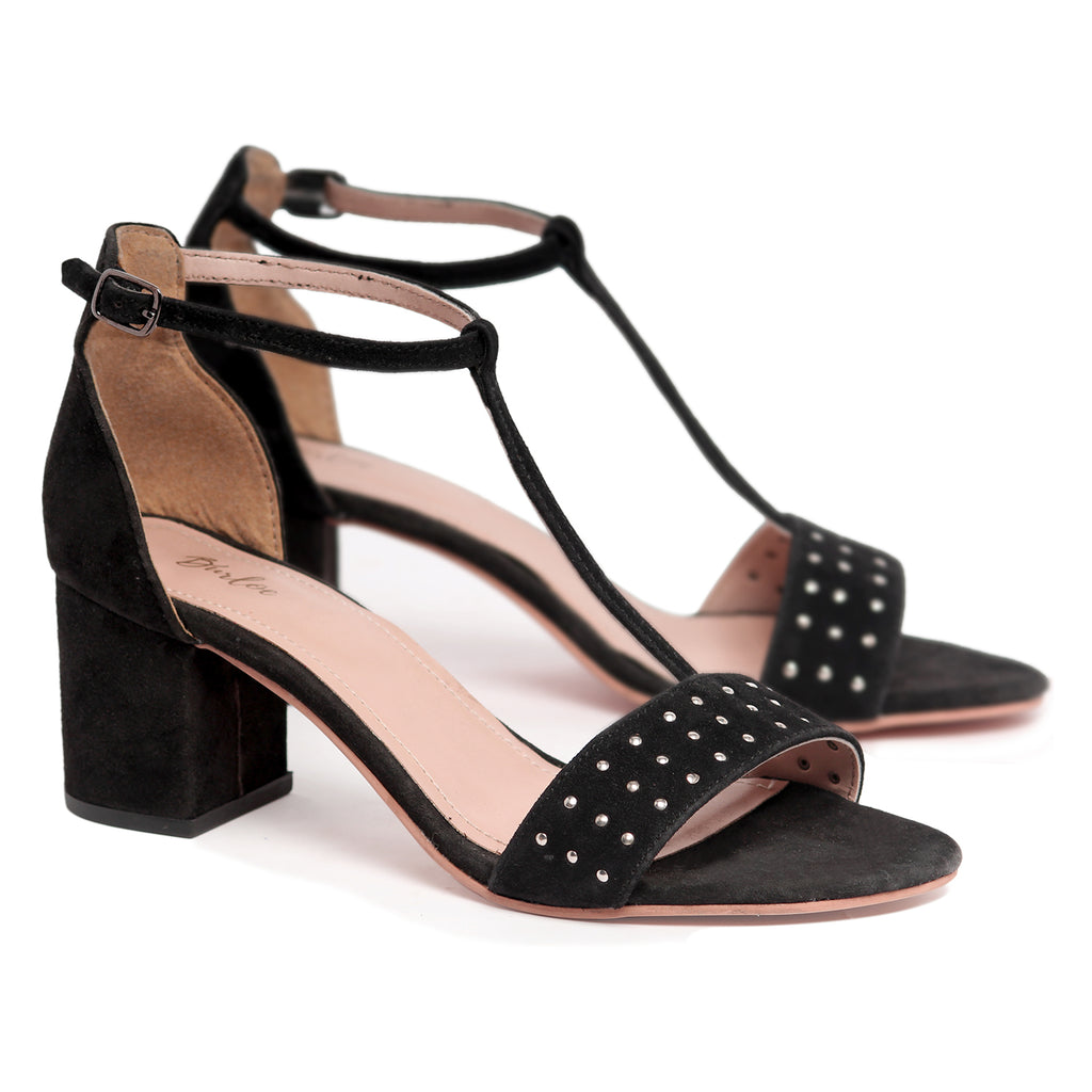 Sable Black Rivet Heel