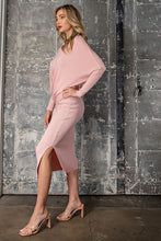 Load image into Gallery viewer, Covering The Basics Classy Midi Knit Skirt - Pink
