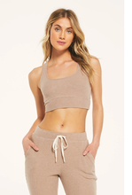 Load image into Gallery viewer, Zsupply Sia Ribbed Tank Bra - Cocoa