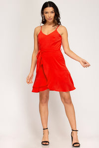 Here Come The Fireworks Red Cami Dress