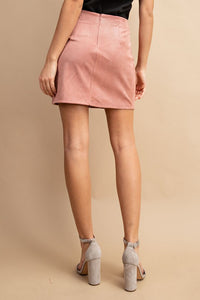 Memorable Mauve Corduroy Mini Skirt