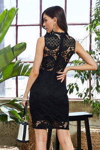Business As Usual Black Crochet Lace Dress