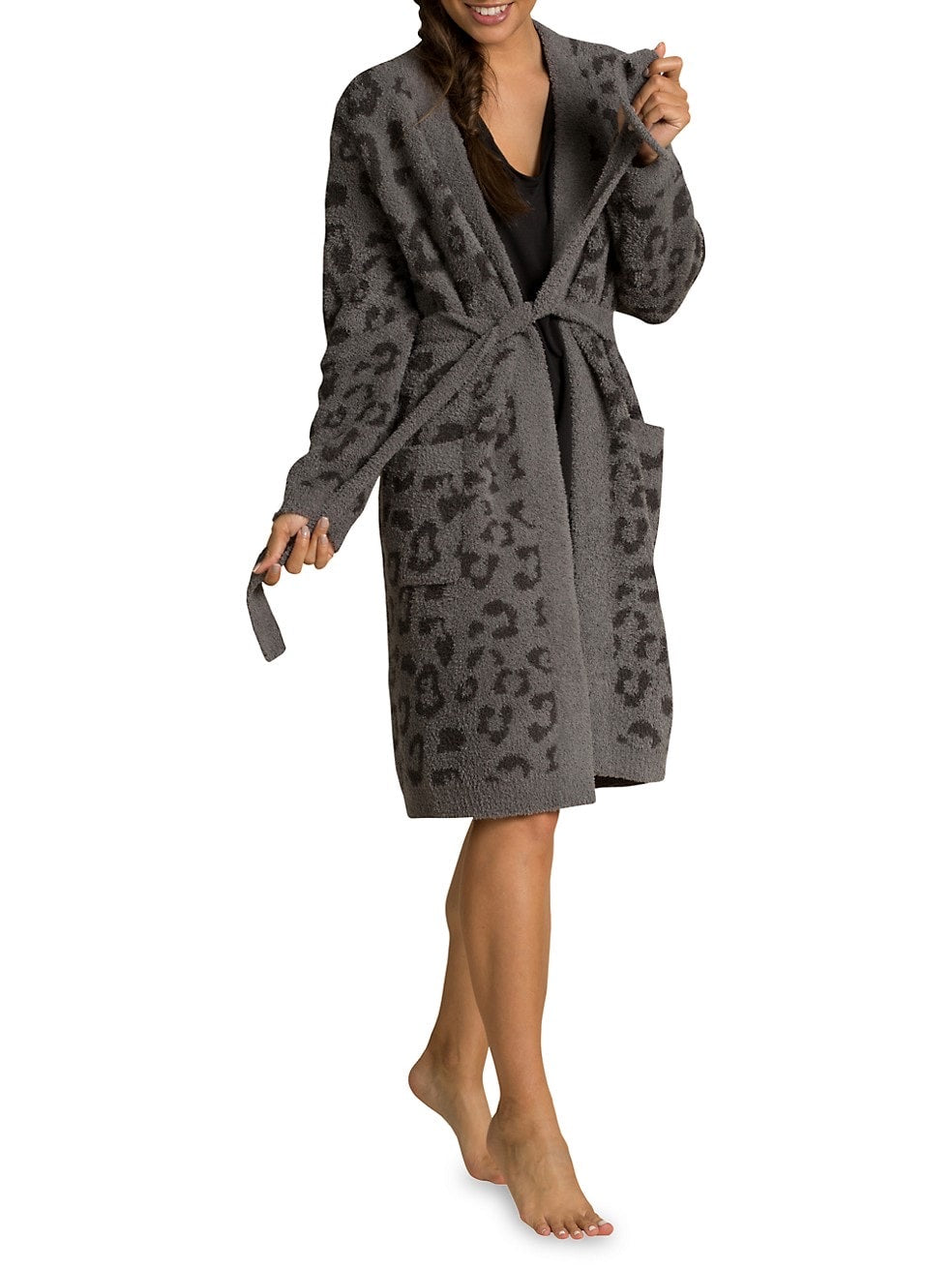 CozyChic® Barefoot in the Wild® Robe Color Graphite - Carbon