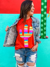 Load image into Gallery viewer, Poppy Party Cactus Tee