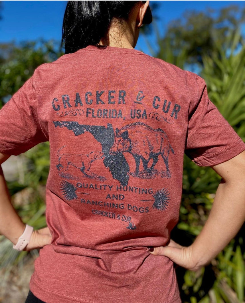 Cracker & Cur Clay Hunting Dog Tee Shirt