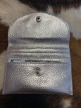 Load image into Gallery viewer, Keep It Gypsy Metallic Silver Credit Card Wallet w/ LV