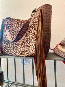 Keep It Gypsy Stella LV Tote Bag - Leopard & Alligator Hide
